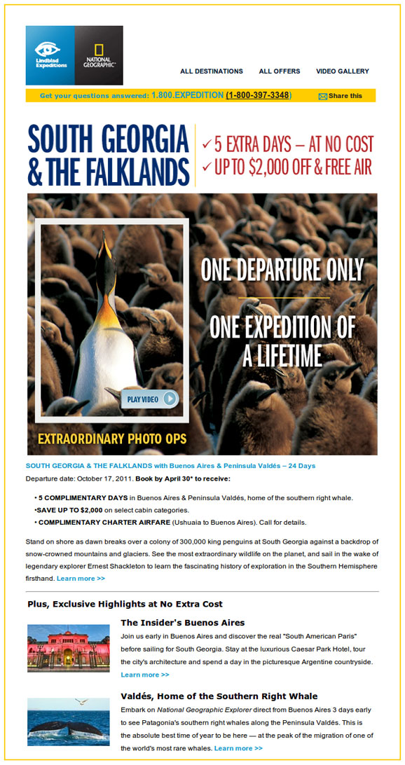 Cruise South Georgia & The Falklands with Lindblad Expeditions